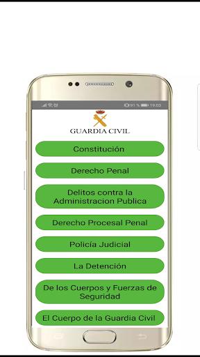 (Temario Completo) OPOSICIONES G.C. 2019 PRO screenshot 1