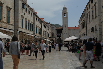 Photo: Busy Placa, main street inside Dubrovnik old town