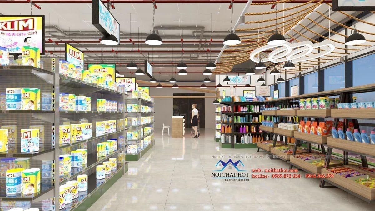 thiết kế quán trà sữa cafe và siêu thị 21