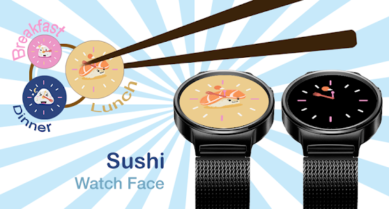 Sushi Watch Face - Moto 360 screenshot 6