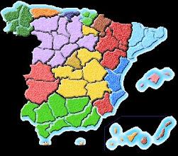 Photo: Mapa mudo de las autonomías con colores