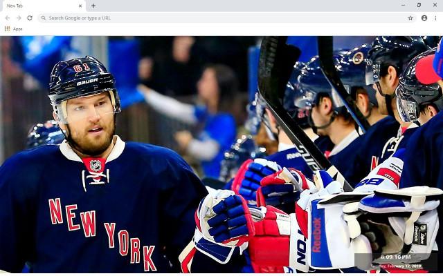 NHL New York Rangers New Tab Theme