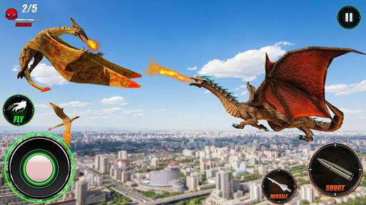 Wild Dinosaur Rampage : Flying Robot Shooting Game android2mod screenshots 5
