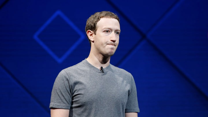 Facebook chief executive Mark Zuckerberg has apologised for mistakes his company made in how it handled data belonging to 50 million of its users. Picture: REUTERS