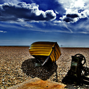 Brighton beach, Sussex, UK by Peter Greenhalgh - Landscapes Travel ( clouds, uk, brighton, england, blue sky, sea, beach, sun )