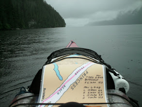 Photo: Heading north up Fraser Reach in the rain.