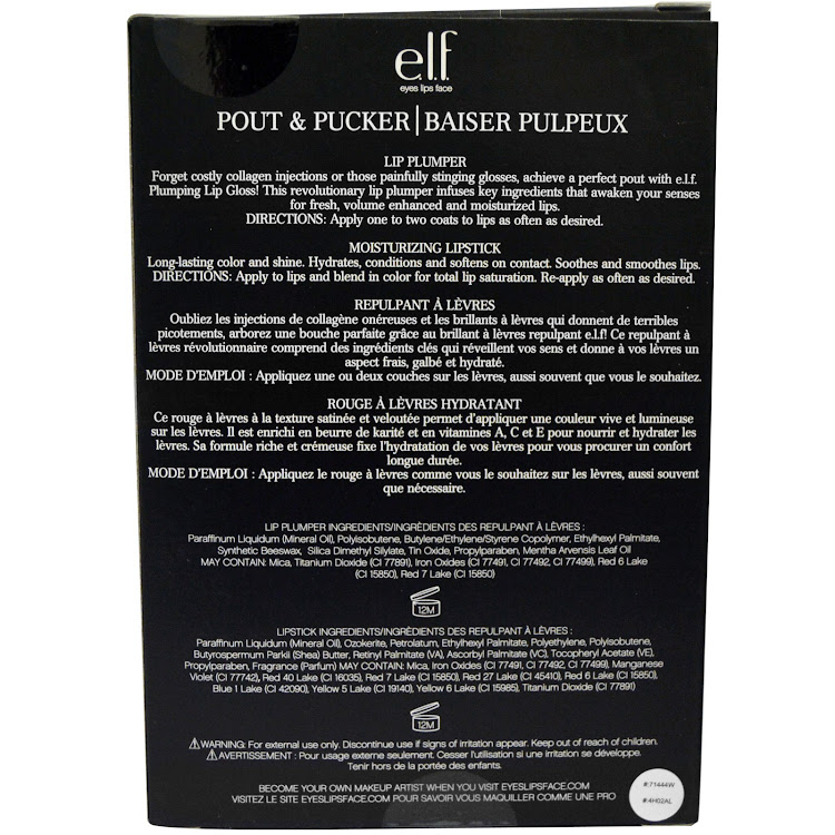E.L.F. Elf Cosmetics, Pout & Pucker, Baiser Pulpeux | Lip Plumper 2 Piece Set