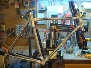 Photo: Frame is fluxed up and tacked.