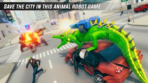 Crocodile Car Robot Simulator: Robot Endless War apktram screenshots 9