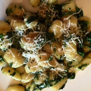Gnocchi and Creamed Spinach.