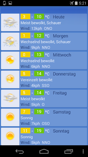 Wetter Berlin screenshot 2