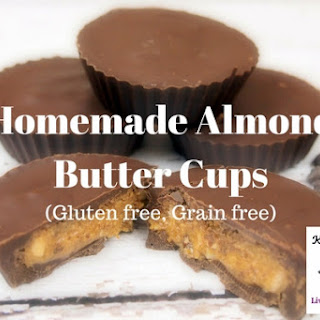 Homemade Almond Butter Cups.