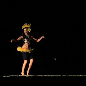 Hula Dancer by Daljit Singh - People Musicians & Entertainers ( maui, hula, luau, hawaii, dancer )