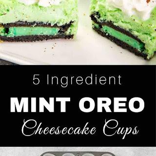 Mint Oreo Cheesecake Cupcakes Recipe