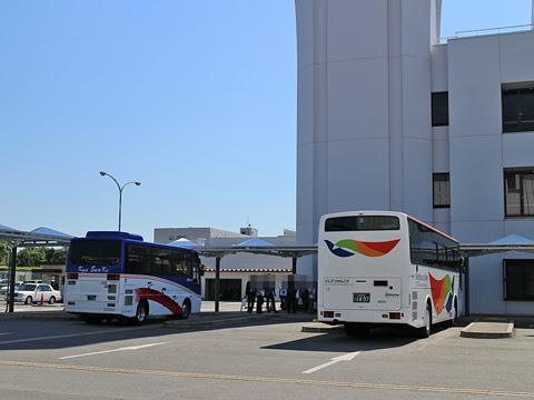 西鉄観光バス 9631 熊本空港休憩中