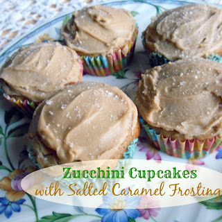 Zucchini Cupcakes with Salted Caramel Frosting