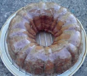 Pumpkin Bundt Cake with Apple Cider Glaze