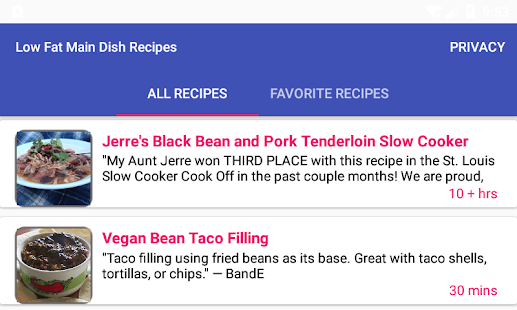 Low fat main dish recipesfree recipe app android apps on google play low fat main dish recipesfree recipe app screenshot thumbnail forumfinder Images
