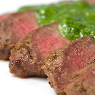 Argentine Chimichurri Sauce On Flank Steak