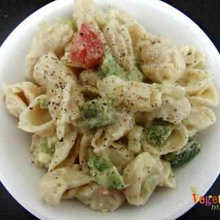 Easy Macaroni Salad – #glutenfree #vegan.