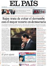 Photo: Rajoy trata de evitar el derrumbe con el mayor recorte en democracia y final violento para la 'marcha negra' de los mineros, en nuestra portada del jueves 12 de julio de 2012 http://cort.as/2DCE