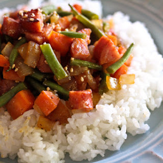 Chopped Kielbasa Stir-Fry