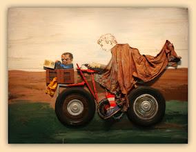 Photo: Antonio Berni Juanito con la moto 1972 ca. 180 x 210 cm. Colección particular, Buenos Aires. Expo: Antonio Berni. Juanito y Ramona (MALBA 2014-2015)