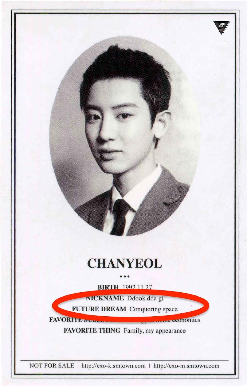 Chanyeol dream