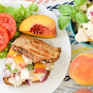 Basil Peach Chicken Salad
