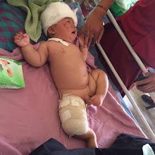 Photo: Niño hospitalizado.