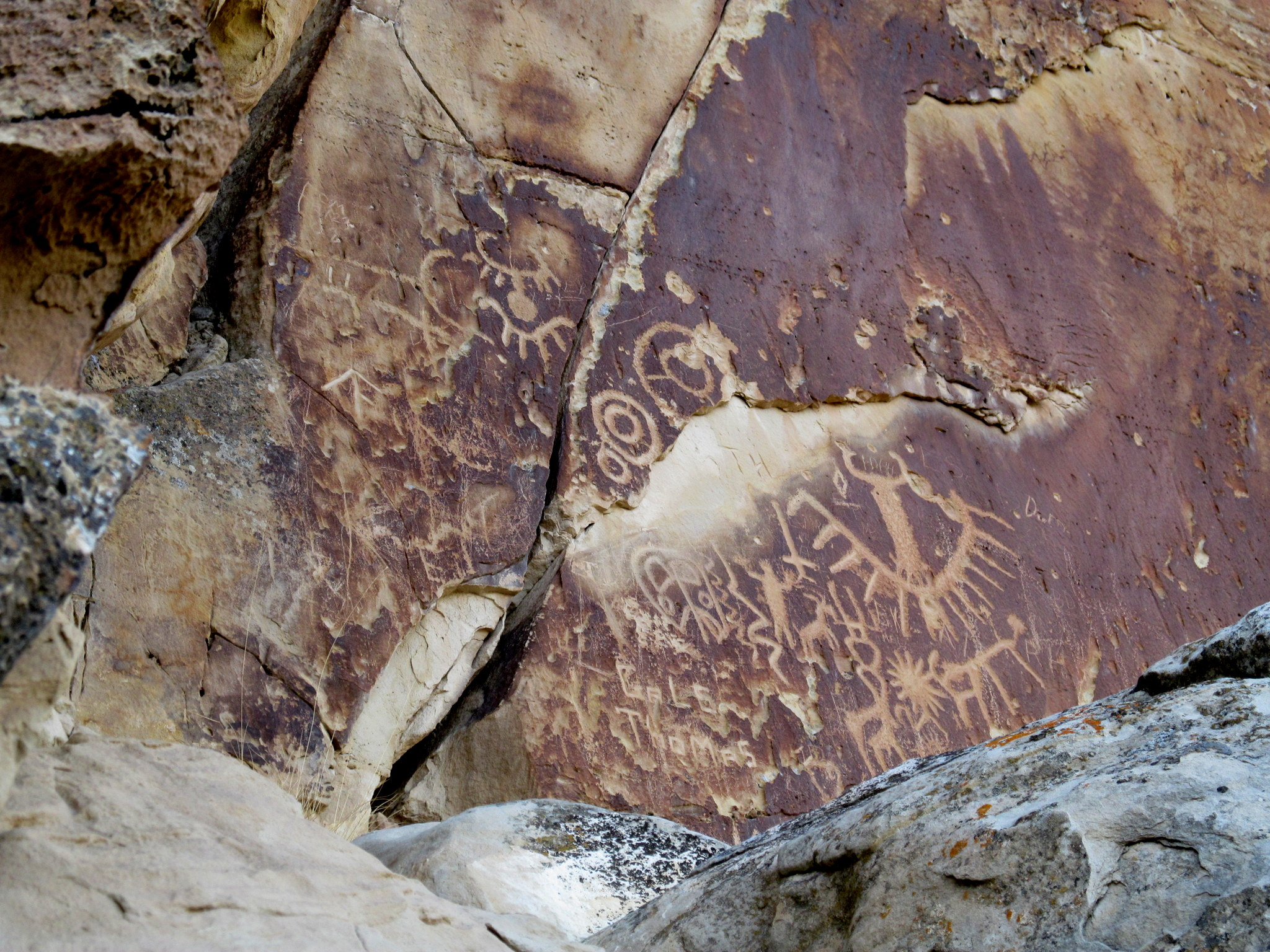 Photo: Ferron Creek petroglyphs