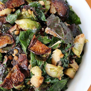 "Three-Green & Wheat Berry Salad with Mushroom ""Bacon"""