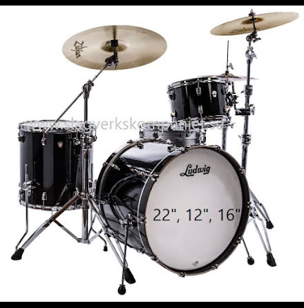 "Ludwig NeuSonic 22""-set - Black Cortex - USA-TILLVERKADE!!"