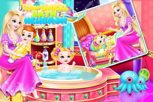 Newborn Bath - Rapunzel Nurse