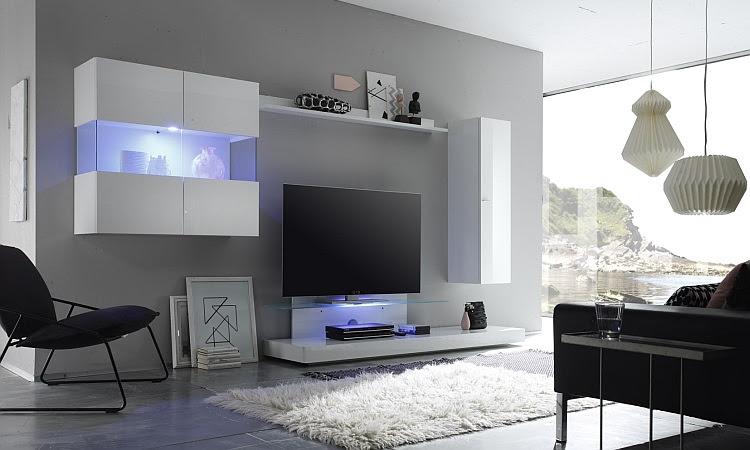 Composizione arredo soggiorno bali 6, parete porta tv moderna ...