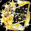 Black gold live wallpaper icon
