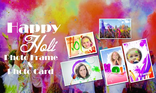 Happy Holi Photo Frame & Card - náhled