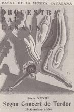 Photo: Programa d'un concert de l'Orquestra Pau Casals (28/10/1934) © Biblioteca de l'Orfeó Català