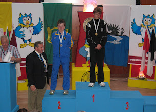 Photo: Daniel Ryan, Silver medalist for Tipperary in the Boys U/14 80m Hurdles at the National Community Games Athletic Finals 2011