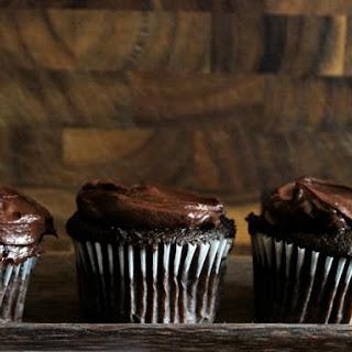 Sour Cream Chocolate Cupcakes.