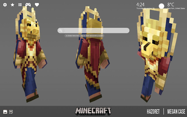 Minecraft Skins HD Wallpapers New Tab