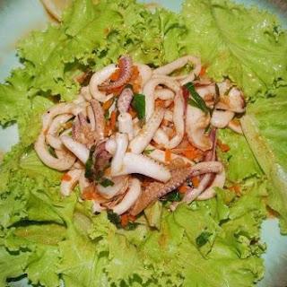 Cj's Calamari Salad.