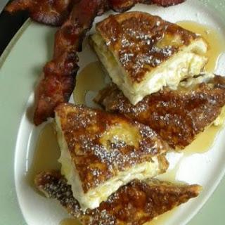 Banana & Cream Cheese Stuffed French Toast.
