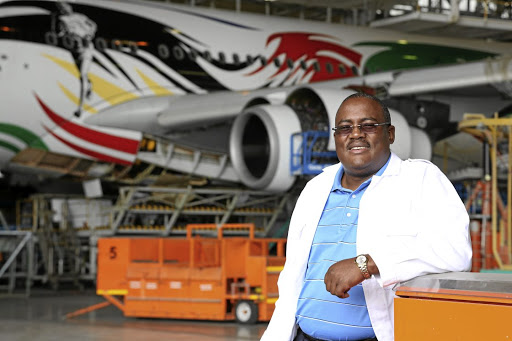 Reaching for the sky: SAA acting CEO Musa Zwane says that the state-owned airline will back its loans, due at the end of June, and if it fails, will make a call on its government guarantee that totals R19.1bn. Picture: SUPPLIED