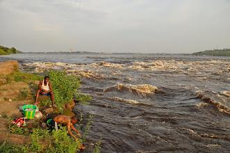 Photo: rapids behind Brazzaville