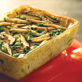 Savory Shiitake and Parmesan Bread Pudding