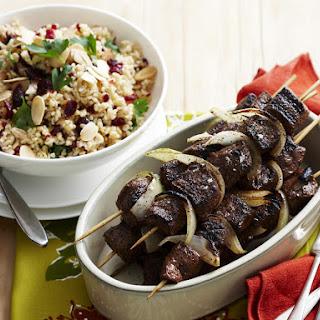 Spiced Lamb Kebabs and Bulgur Salad