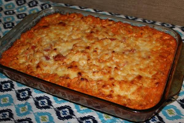Baked Mac And Cheese With Italian Stewed Tomatoes