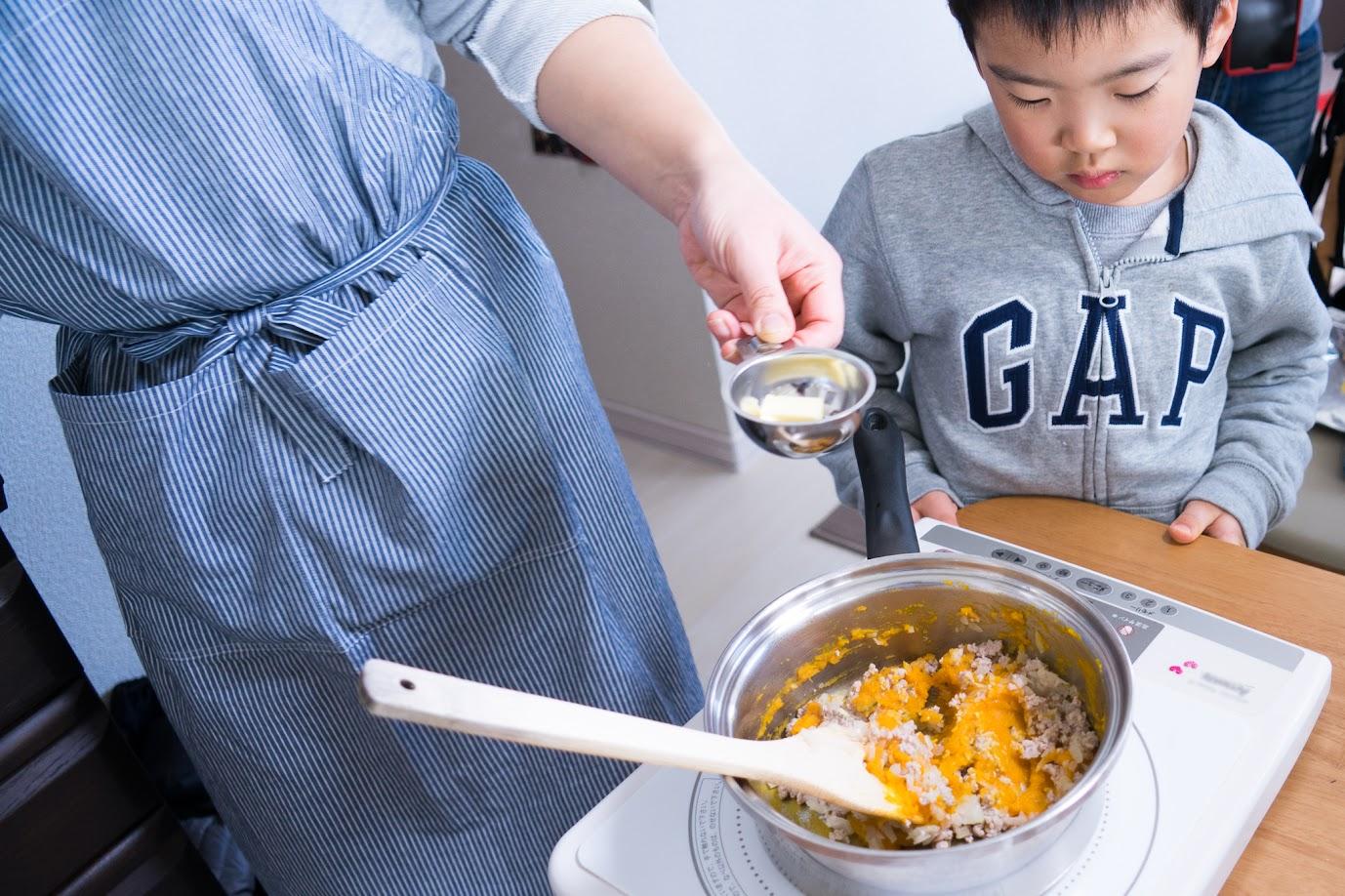 黒千石レシピ:黒千石大豆と南瓜のスコップコロッケ・作り方