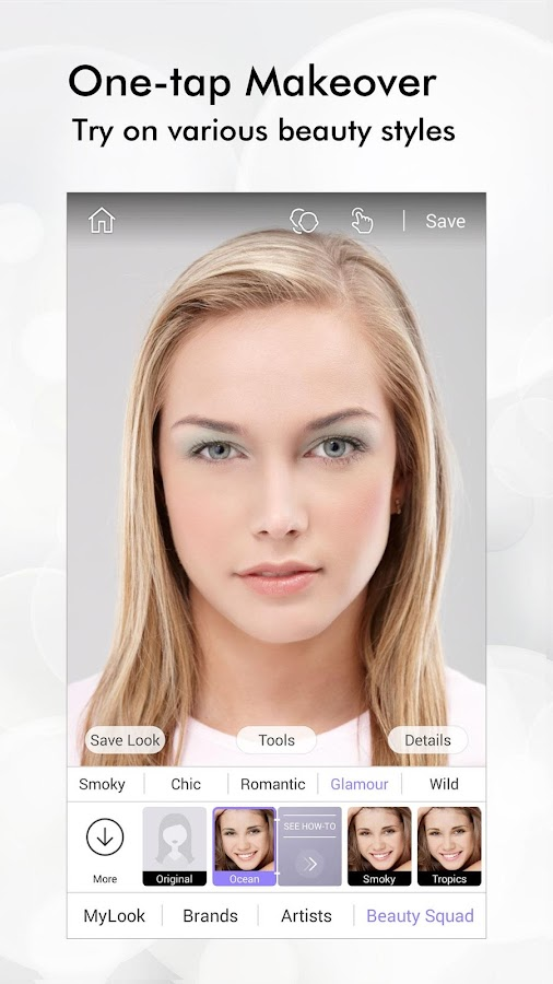 Perfect365: One-Tap Makeover- หน้าจอ